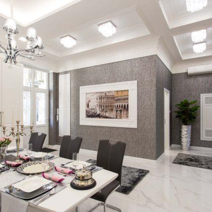 Eladó V. kerület, Szent István körúton, 170m2, erkélyes, amerikai konyhás nappali + 2 hálószobás lakás 239 MFt