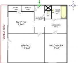 Eladó XI. Halmi utcában, 2 szobás, erkélyes lakás 39,9 MFt