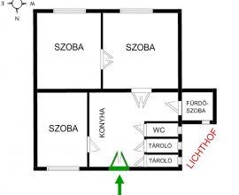 Eladó VIII. kerület Corvin negyedben, 59m2, 2,5 szobás lakás 35,9 MFt